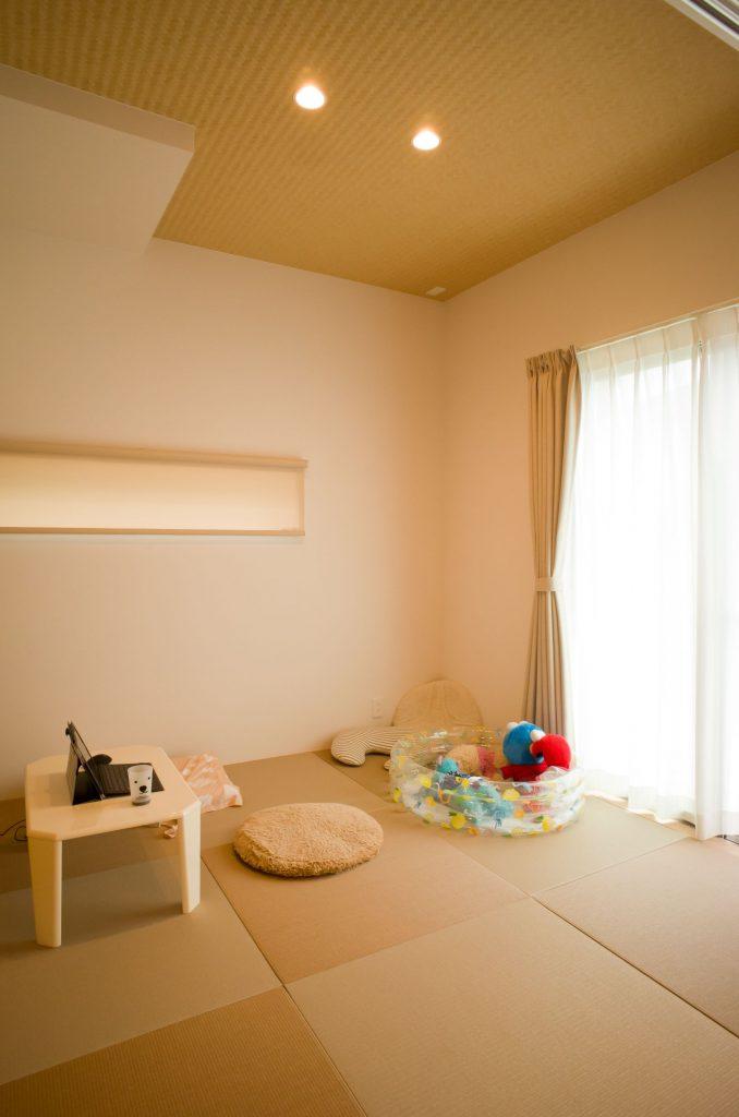 琉球畳を使った畳コーナー