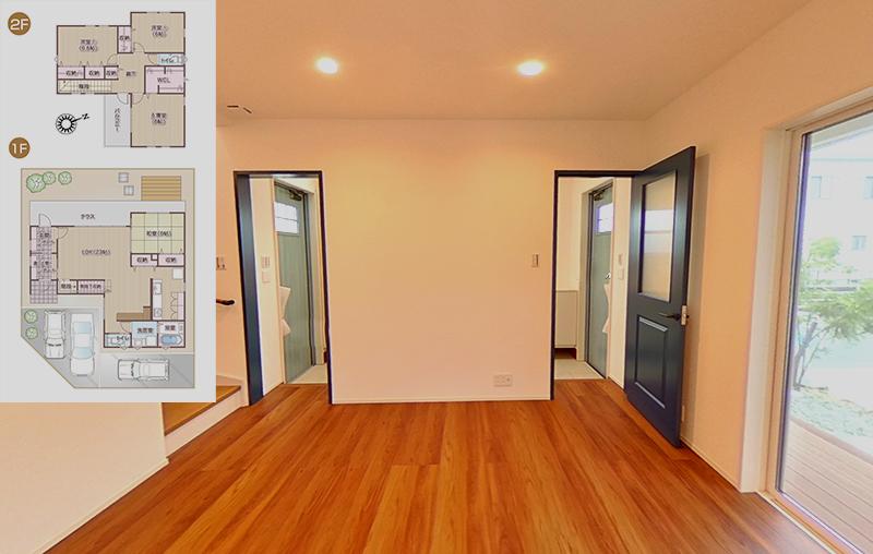 収納力アップの広々空間のあるお家